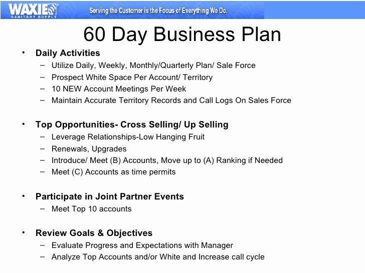 Sales Manager Business Plan Template Sales Territory Plan Template Elegant 30 60 90 Business Plan