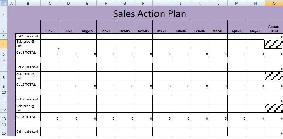 Sales Planning Template Excel Get Sales Action Plan Template Xls