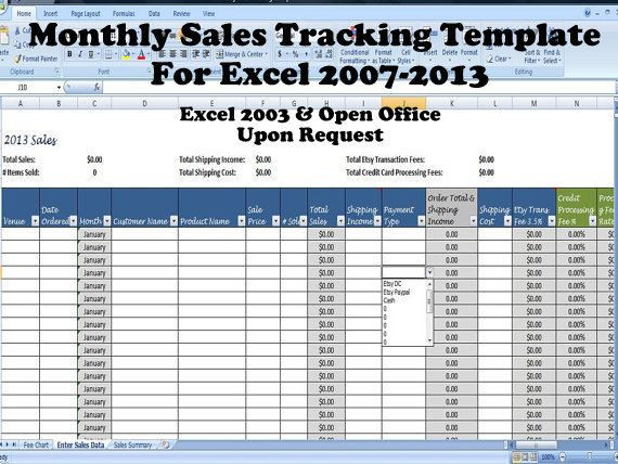 Sales Planning Template Excel Monthly Sales Tracking Template Direct Sales Planner Sales
