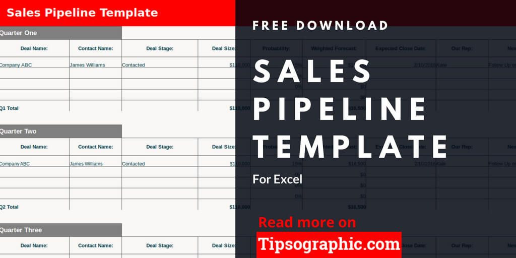 Sales Planning Template Excel Sales Pipeline Template for Excel Free Download