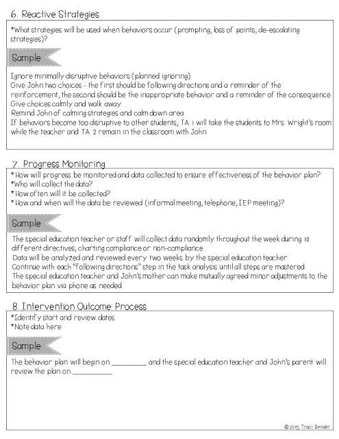 Sample Behavior Intervention Plan Template Creating A Behavior Intervention Plan Bip
