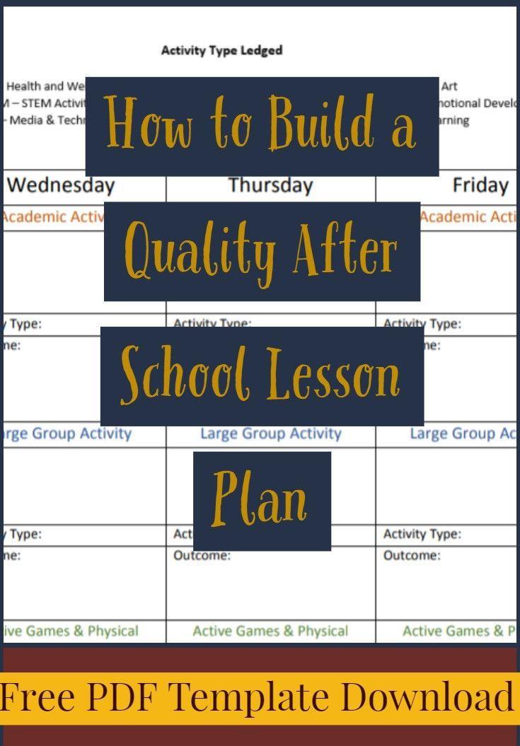 School Age Lesson Plan Template so Erstellen Sie Einen Hochwertigen Stundenplan Nach Der
