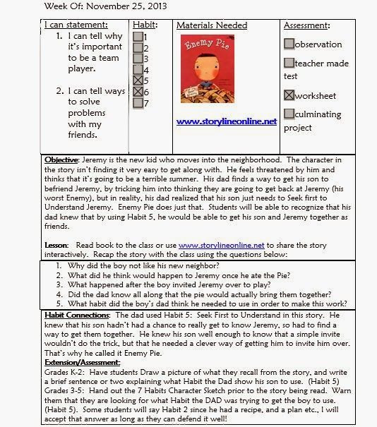 School Counselor Lesson Plan Template Mrs Crabtree S Counseling Corner