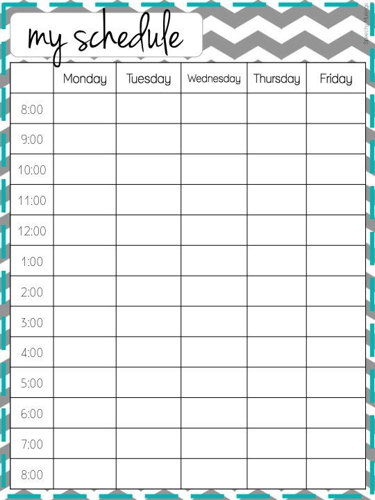 School Planner Template Make It Look Good organizational Freebie