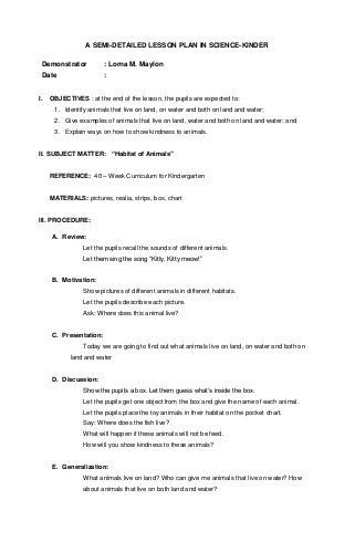 Science Lesson Plan Template Lesson Plan Science Kinder
