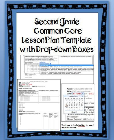 Second Grade Lesson Plan Template Pin On Classroom Ideas