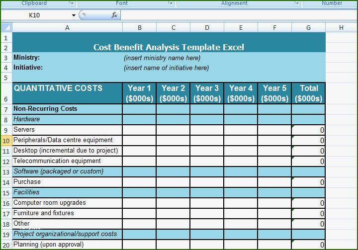 Server Upgrade Project Plan Template 10 Extraordinary Cost Benefit Analysis Template 2020 In