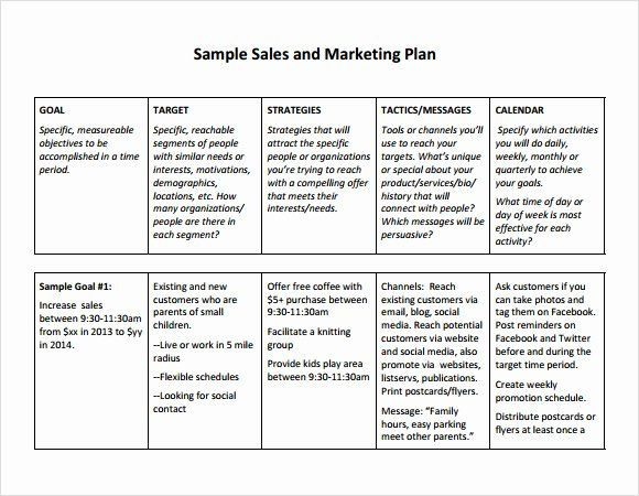 Simple Marketing Plan Template Word Marketing Action Plan Template Excel Awesome Free Sales Plan