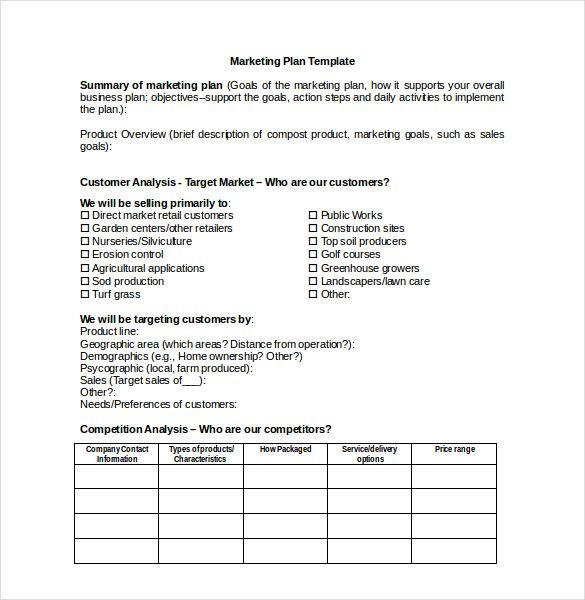 Simple Marketing Plan Template Word Marketing Plan Templates 20 formats Examples and Plete