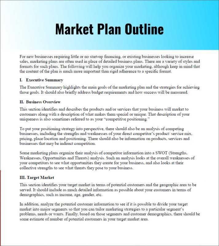 Simple Marketing Plan Template Word Pin On Marketing Plan