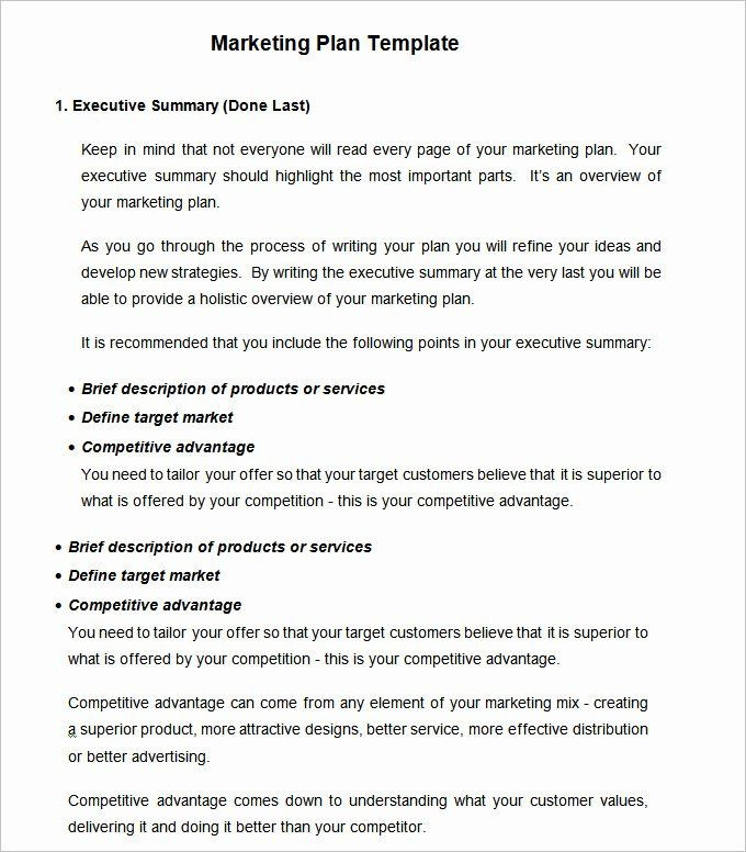 Simple Marketing Plan Template Word Simple Marketing Plan Template Word New Strategic Marketing