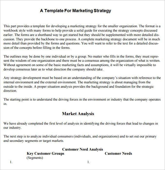 Simple Marketing Plan Template Word Strategic Marketing Plan Template