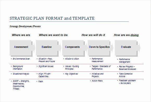 Simple Strategic Plan Template Strategy Business Plan Template Inspirational Sample