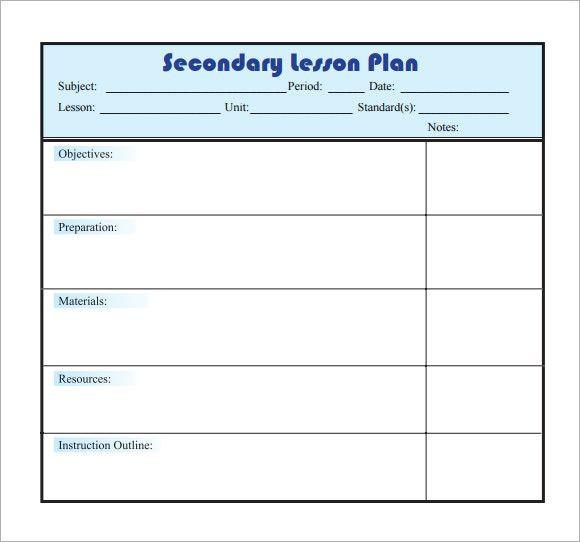 Single Subject Lesson Plan Template E Subject Lesson Plan Template Best Sample Lesson Plan