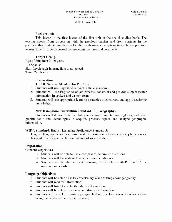 Siop Lesson Plan Template 3 Siop Lesson Plan Template 3 Beautiful Sample Siop Lesson