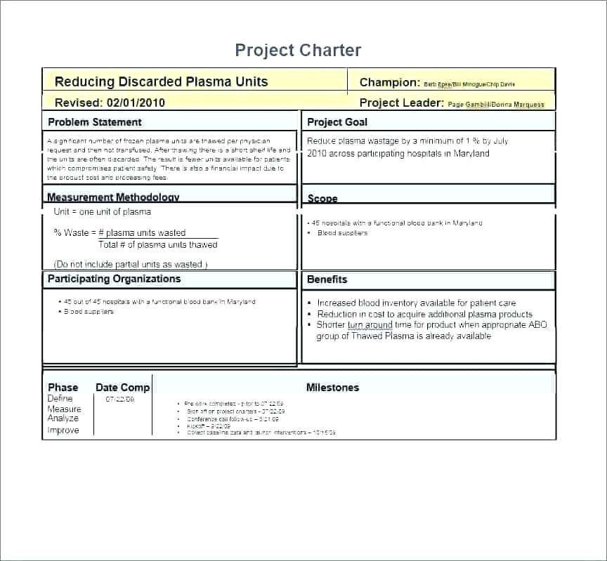 Six Sigma Project Plan Template 29 Six Sigma Project Templates How to Plete A Six Sigma