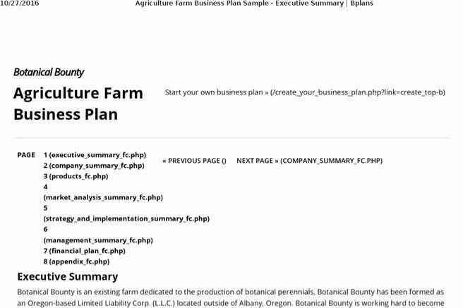 Small Farm Business Plan Template Small Farm Business Plan Template New 7 Farm Business Plan