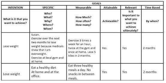 Smart Action Plan Template Smart Goal Example