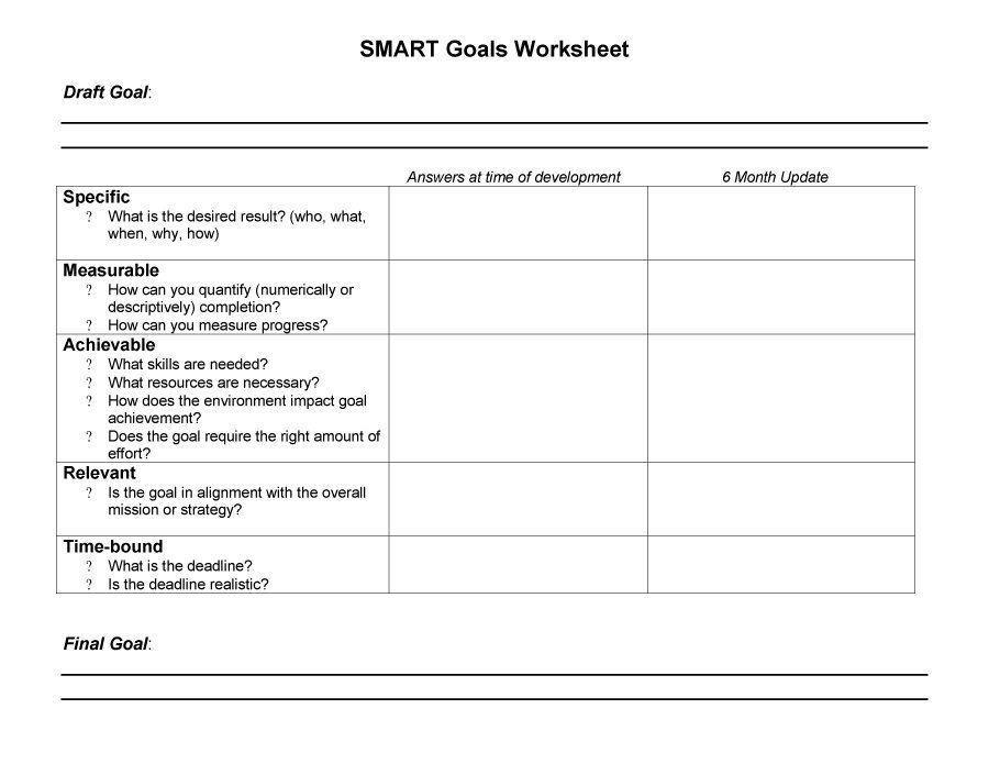 Smart Goal Action Plan Template 48 Smart Goals Templates Examples & Worksheets