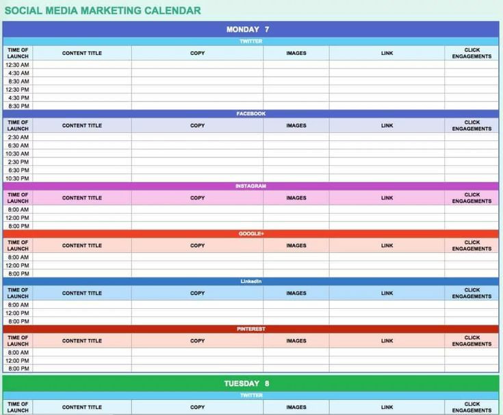Social Media Plan Template Excel Email Marketing Calendar Email Marketing Calendar E