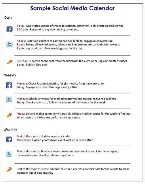 Social Media Plan Template Excel How to Create A social Media Marketing Calendar