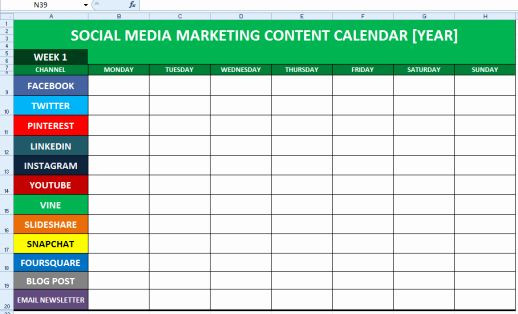 Social Media Plan Template Excel Munication Plan Template Excel Fresh Final Project