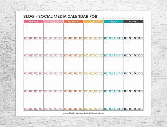 Social Media Plan Template Excel social Media Posting Schedule Template Best 8 social