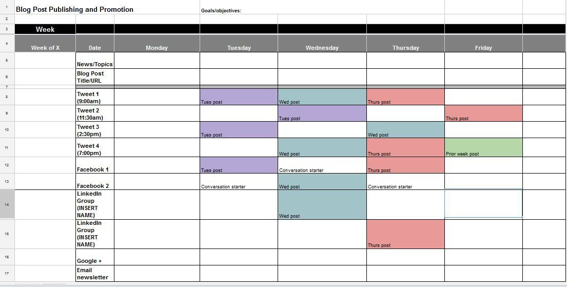 Social Media Plan Template Excel the Ultimate Guide to Creating the Perfect social Media
