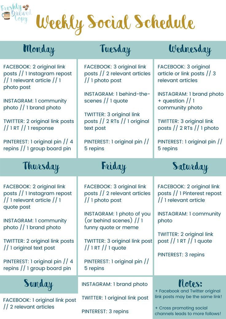 Social Media Planner Template Free Yourself From Decision Fatigue with A Weekly social