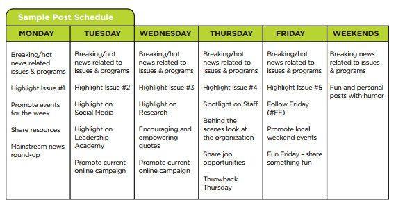 Social Media Planner Template Greenlining