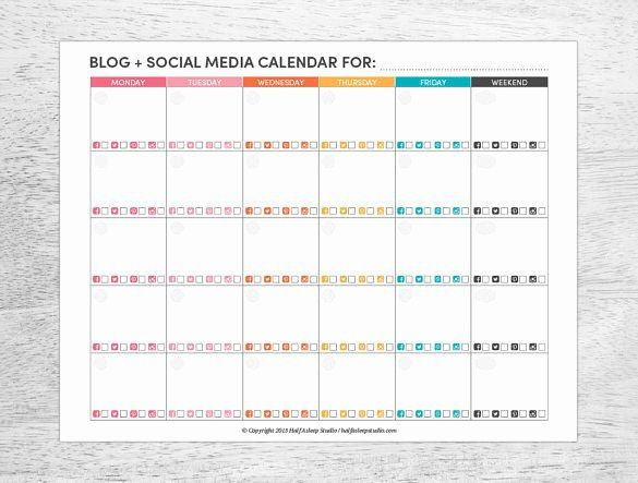 Social Media Planner Template social Media Posting Schedule Template Best 8 social