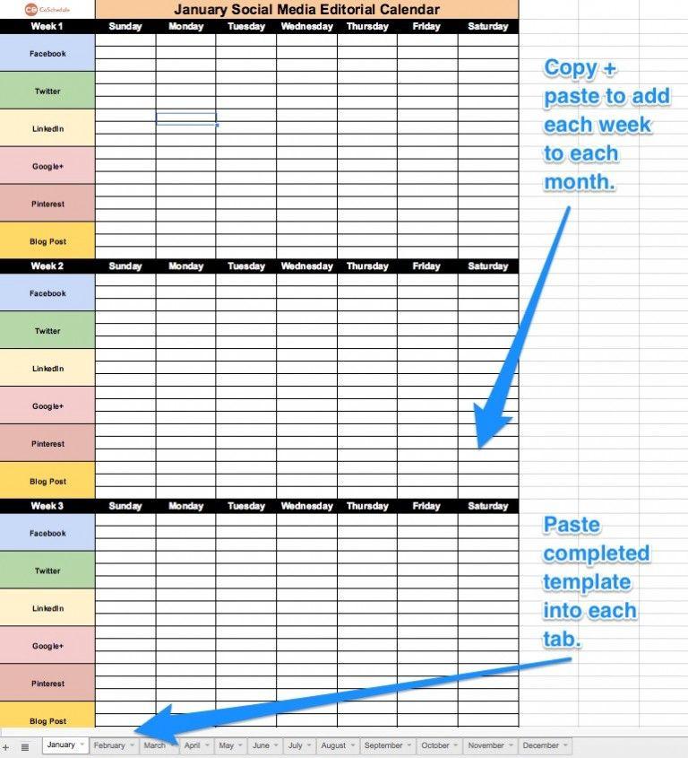 Social Media Planner Template the Best 2021 social Media Content Calendar to organize