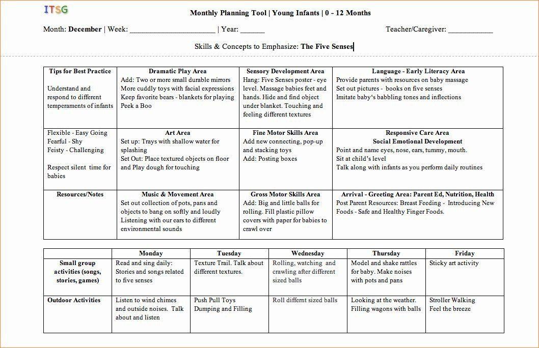 Social Skills Lesson Plan Template social Skills Lesson Plan Template Luxury Infant toddler