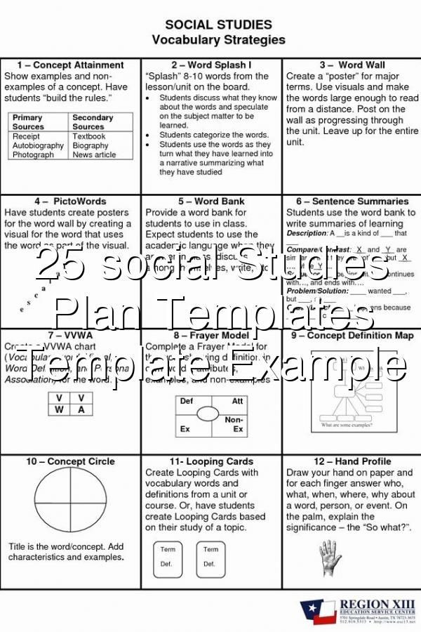 Social Studies Lesson Plan Template 25 social Stu S Lesson Plan Templates Business Template