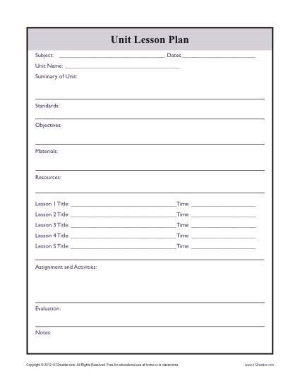 Social Studies Lesson Plan Template Plex Unit Lesson Plan Template