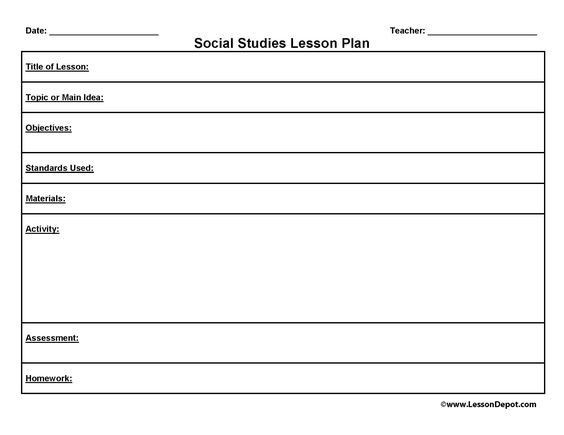 Social Studies Lesson Plan Template social Stu S Lesson Plan Template Beautiful Lesson Plan