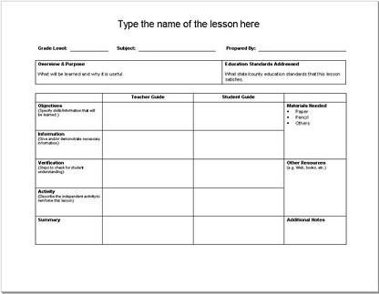 Social Studies Lesson Plan Template social Stu S Lesson Template 1