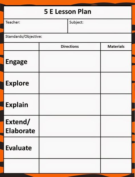 Social Studies Lesson Plan Template the 5e Model Our New Lesson Plans