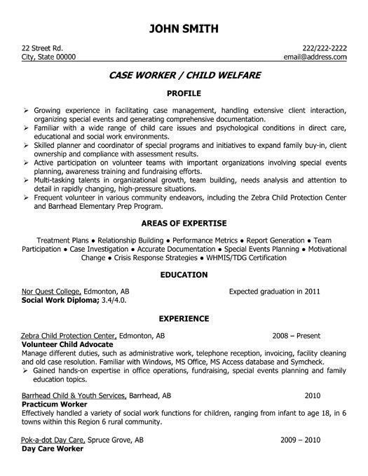 Social Work Case Plan Template Resume for social Work Popular A Professional Resume