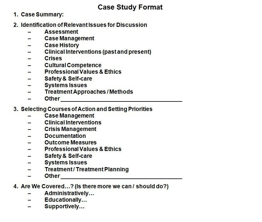 Social Work Case Plan Template This Case Study format is A Panion Document to Tracking