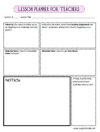 Spanish Lesson Plan Template Lesson Planner for Teachers