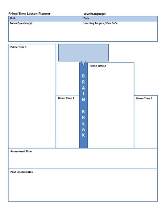 Spanish Lesson Plan Template Primacy Recency Lesson Plan Template