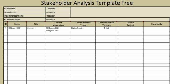 Stakeholder Management Plan Template Excel Stakeholder Management Plan Template Unique Stakeholder