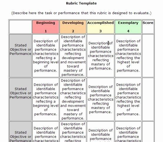 Standard Based Lesson Plan Template Standards Based Lesson Plan Template Fresh Rubric Template