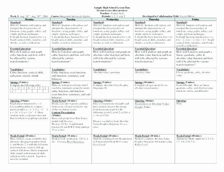 Standards Based Lesson Plan Template Standard Lesson Plan Template New Standards Based Lesson