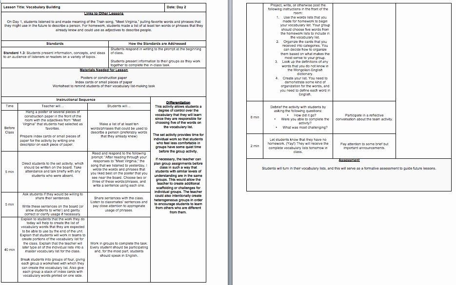Standards Based Lesson Plan Template Standards Based Lesson Plan Template Awesome Sample Lesson