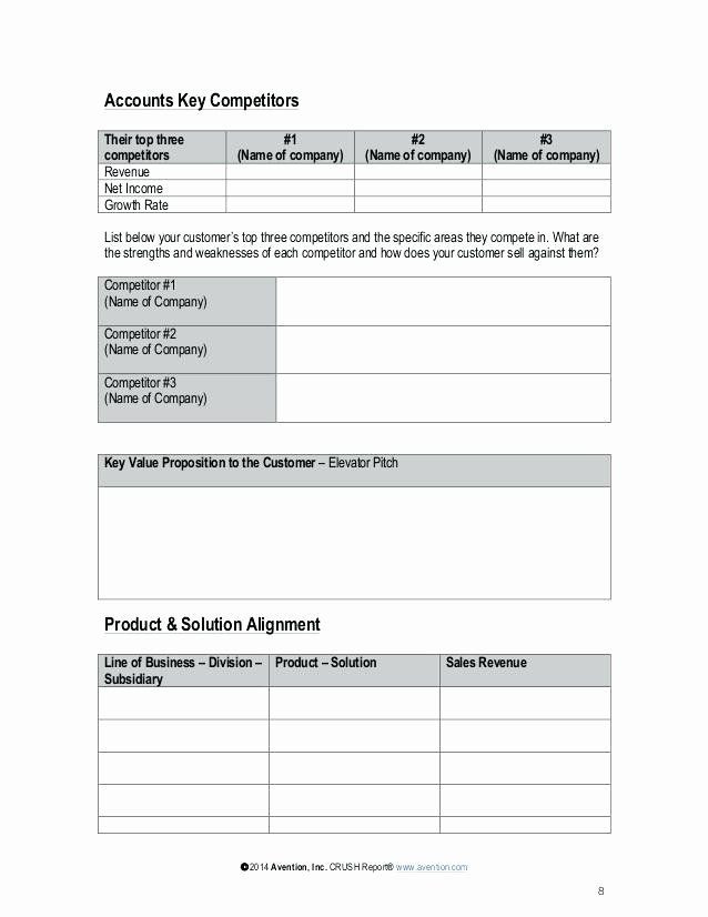 Strategic Account Plan Template Pin On Business Action Plan Templates