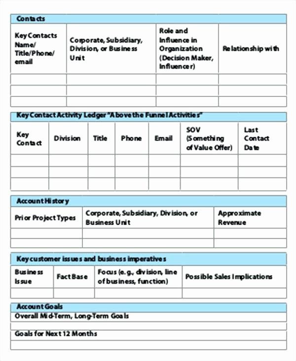 Strategic Account Plan Template Strategic Account Planning Template Beautiful E Page Account