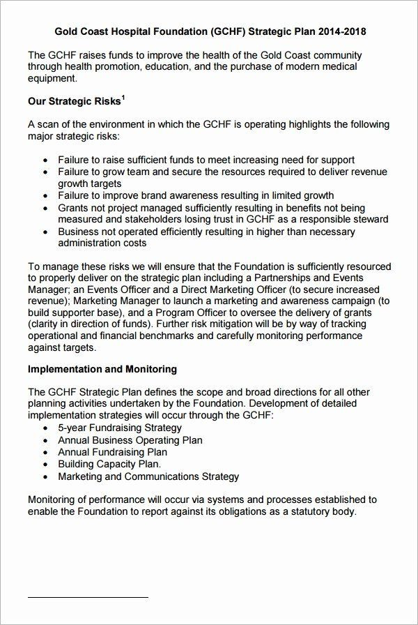 Strategic Plan Reporting Template Strategic Plan Template for Nonprofits Fresh 30 Strategic