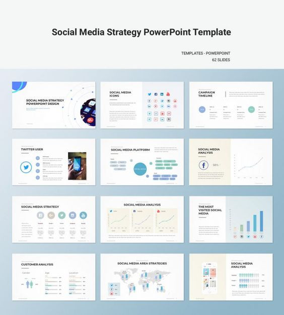 Strategic Plan Template Ppt social Media Strategy Template Download Powerpoint